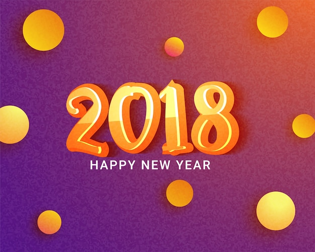 Светящийся 3d-текст 2018 на текстурированном розовом и оранжевом фоне, с новым годом концепции.
