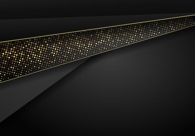Абстрактный темный металлический фон перекрытия. роскошный абстрактный 3d фон с комбинацией светящихся полигонов в 3d стиле. графический дизайн блестит многоточием элементов оформления.
