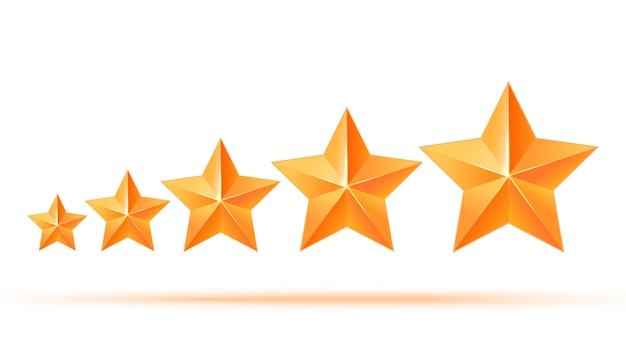 リアルな3dゴールドスター。受賞者。 5つの金の星よくやった。最高の報酬バルク銅スター。シンプルな5つ星最良の選択に対する賞。プレミアムクラス
