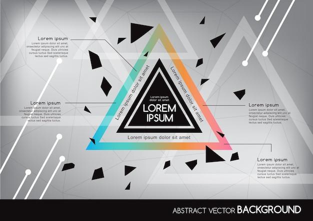幾何学的形状の3d抽象的な背景。