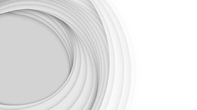 紙のカット形状の3d抽象的な背景。白い彫刻アート。グラデーションフェードカラーのペーパークラフトの風景。