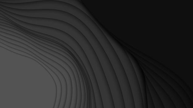 3d абстрактный фон с формами вырезки из бумаги