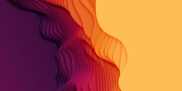 紙のカット形状の3d抽象的な背景