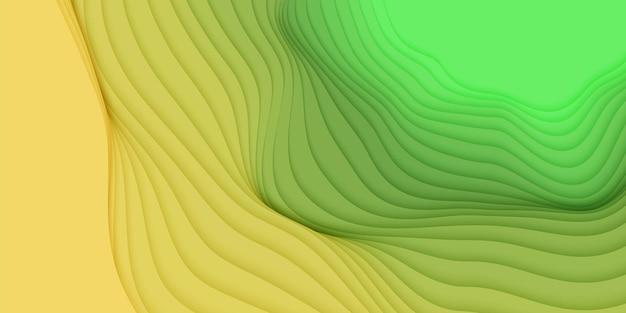 Sfondo astratto 3d con forme tagliate di carta