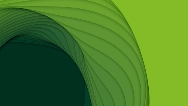 3d абстрактный фон с формами вырезки из бумаги.