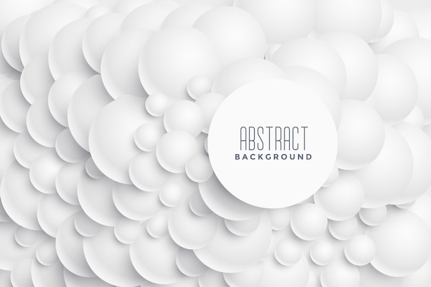 3d abstract circles background design