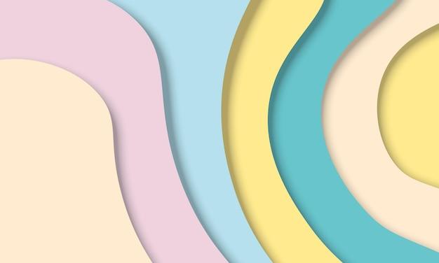 3d абстрактный красочный бумажный художественный стиль. новый шаблон для вашего брендбука.