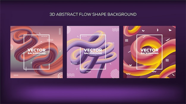 3d abstract flow shape background