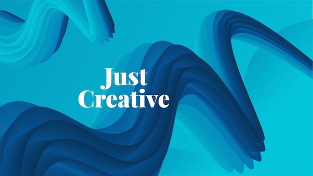 3d абстрактный фон жидкости. красочные формы волны. жидкий фон, подходящий для обоев, запуска, целевой страницы, интернета или бизнес-презентации