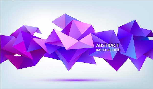 3d abstract geometric facet shape.
