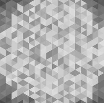 3D abstract geometric isometric gray background