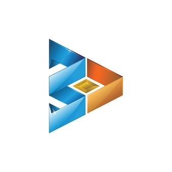 3d abstract logo Premium Vector