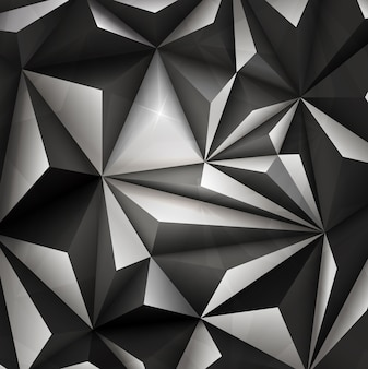 3d abstract polygonal geometric triangle background