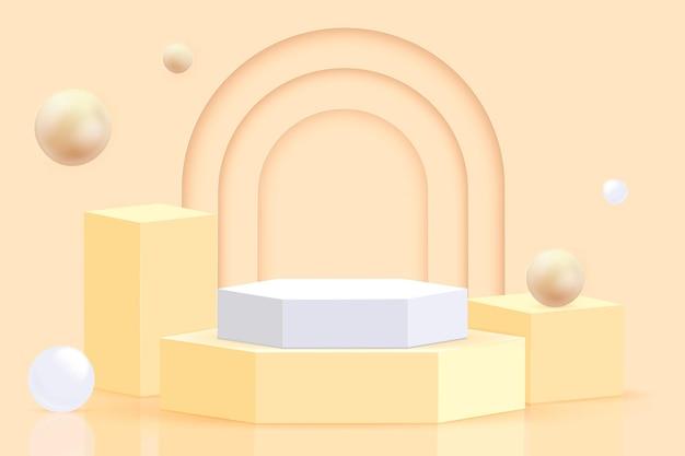 3d抽象的なシーンと形の背景
