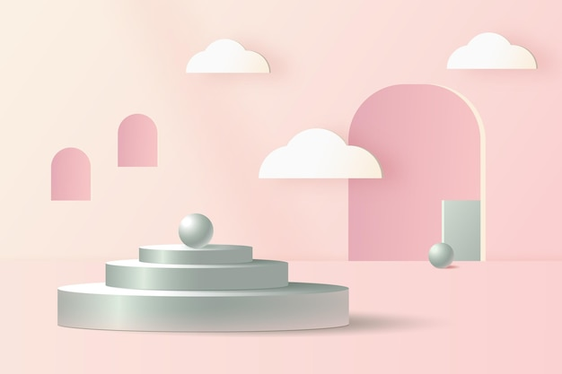 3d abstract scene background