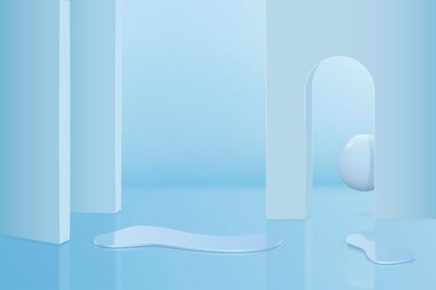 Scena astratta 3d e sfondo di forme