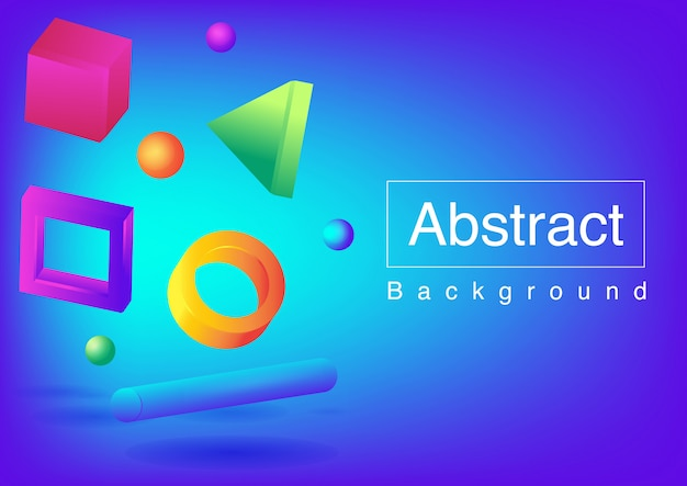 3d abstract shapes background