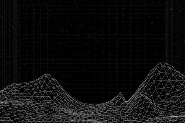 3d抽象的な波パターン背景ベクトル