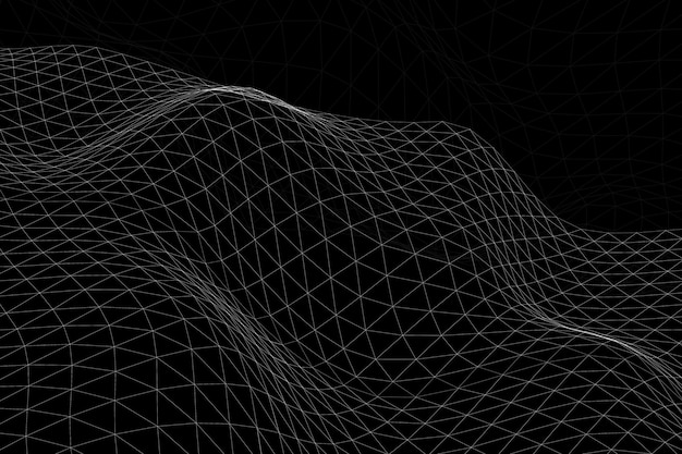 3d抽象的な波パターンの背景