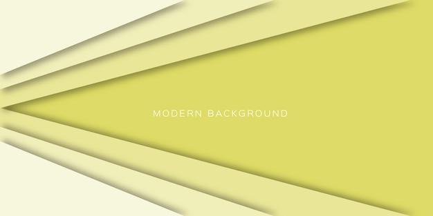 紙カットスタイルの3d抽象的な黄色の背景。