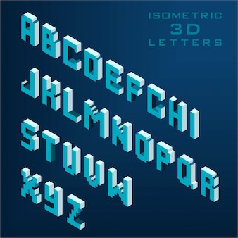 3d alphabet collection