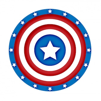 3d american shield vector illustration
