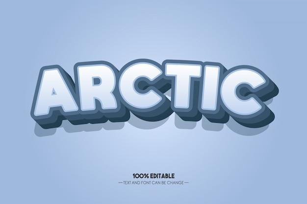 3d 북극 텍스트 스타일