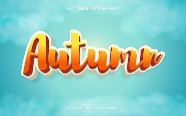 3d осенний текстовый эффект с ярким фоном неба