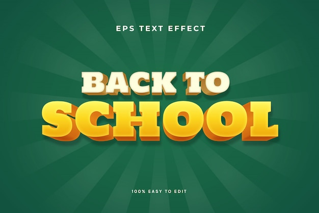 3d back to school text effect