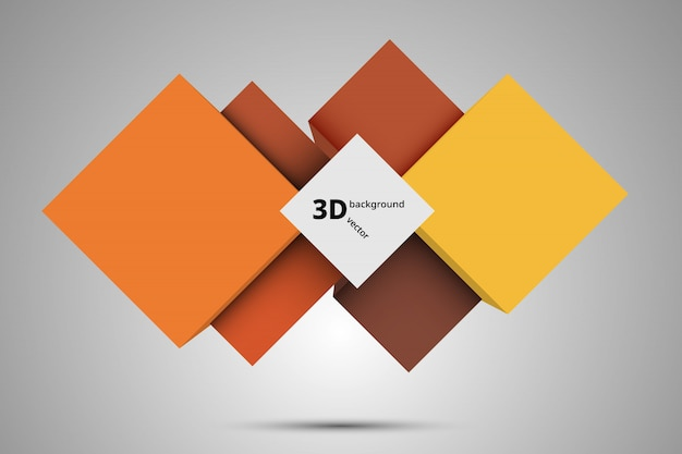 3d background, abstract frame vector.