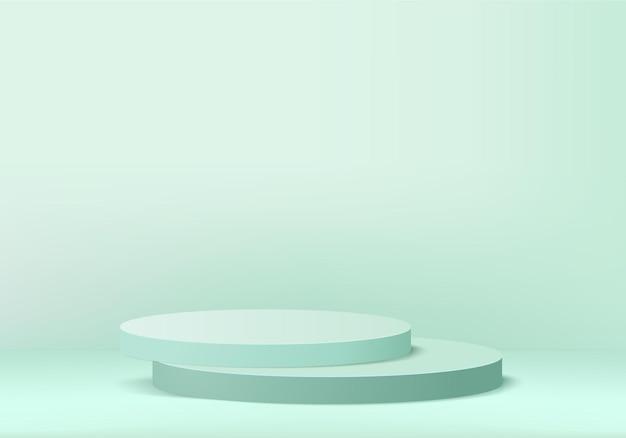 기하학적 플랫폼이있는 3d 배경 제품 디스플레이 연단 장면