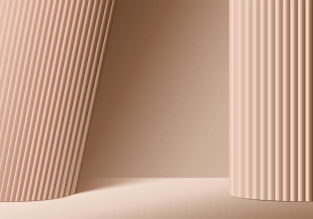 3d фон продукты отображают сцену подиума с геометрической платформой