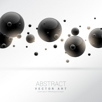 3d background with black balls