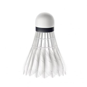 3d badminton shuttlecock white