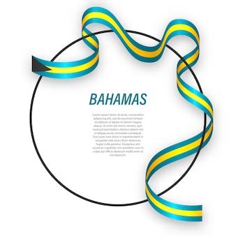 3d багамы с национальным флагом.