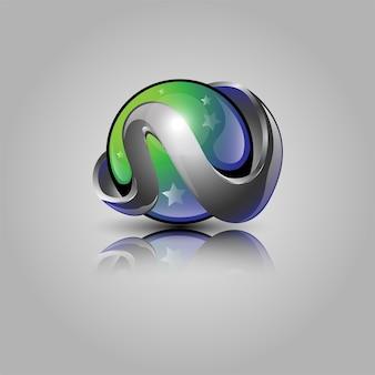 3d ball logo design