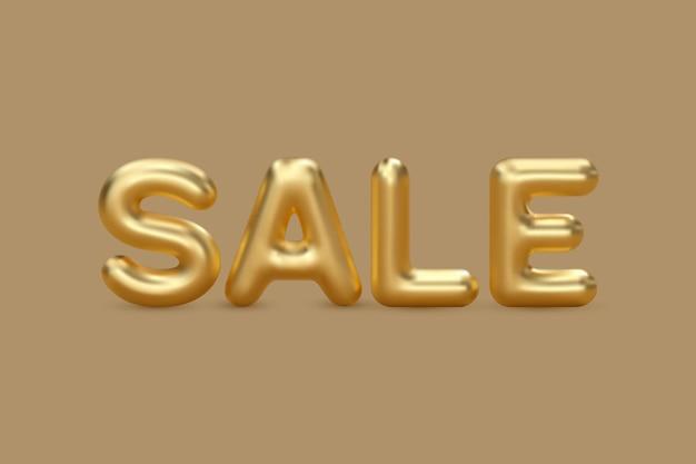 3d слово продажи воздушный шар с золотыми буквами