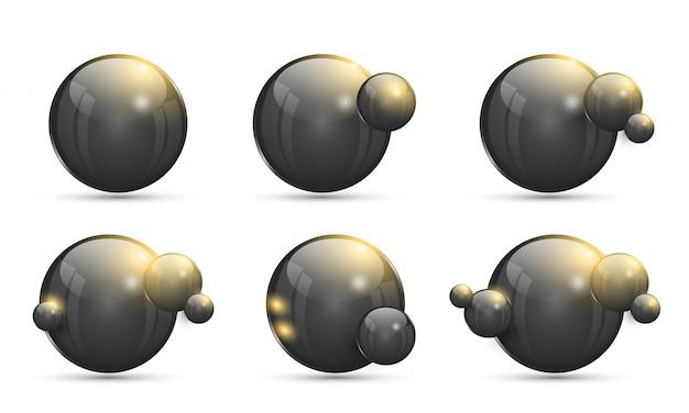 Collezione di palline 3d