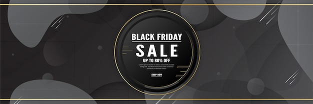 3d banner template for special discount of black friday.