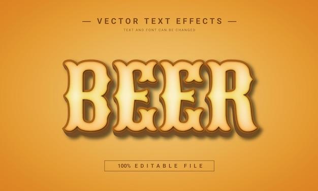 3dビール編集可能なテキストビンテージスタイル