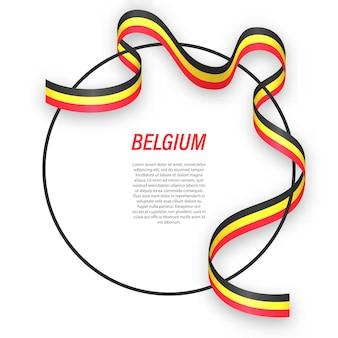 3d бельгия с национальным флагом.