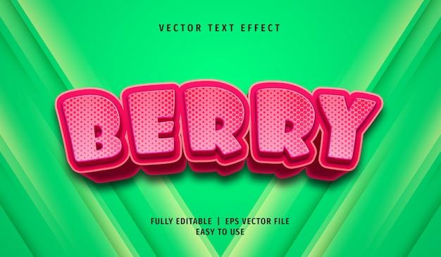 3d текстовый эффект ягоды, редактируемый стиль текста