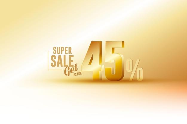 Скидка на лучший баннер продаж 3d с сорока пятью 45%