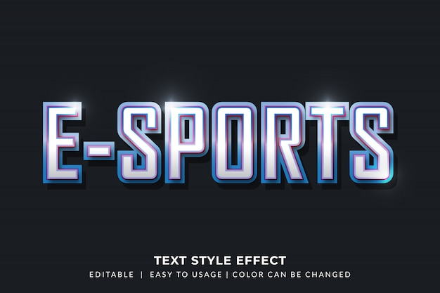 3d bevel text style effect for gamer identity