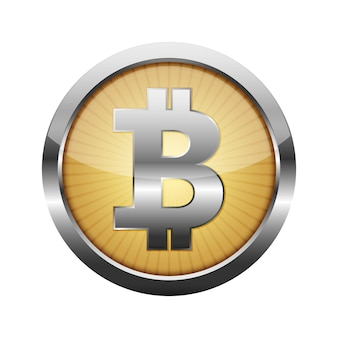 3d bitcoin currency button