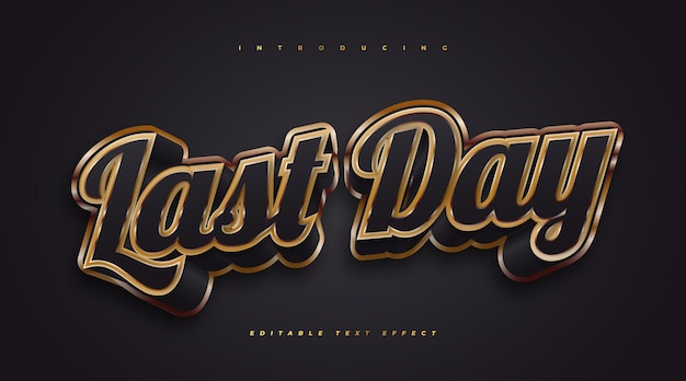 3d black and gold text effect