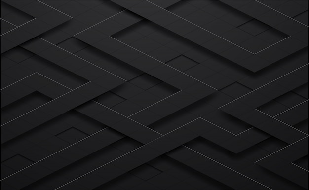 3d  black and line square background