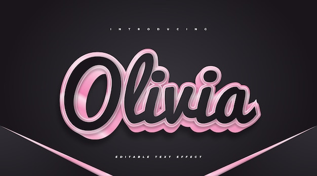 3d black and pink text effect