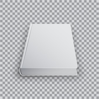 3d blank book template illustration