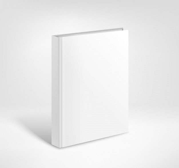 3d blank hardcover book vector